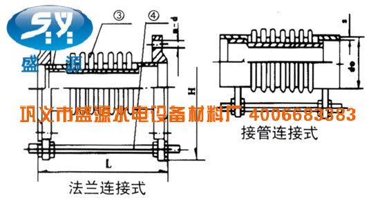 轴向型内压式波纹补偿器JDZ型简图